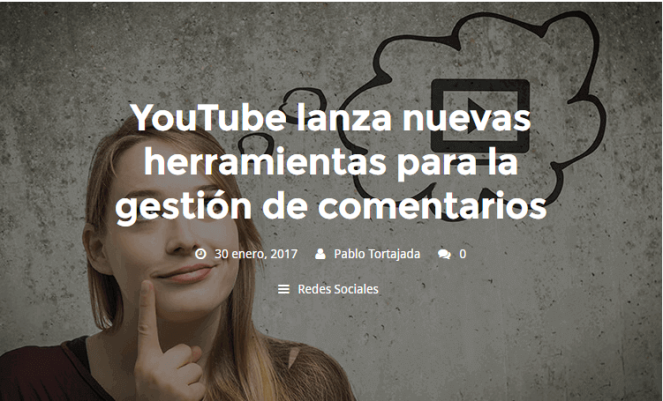 YouTube lanza nuevas herramientas para la gestión de comentarios